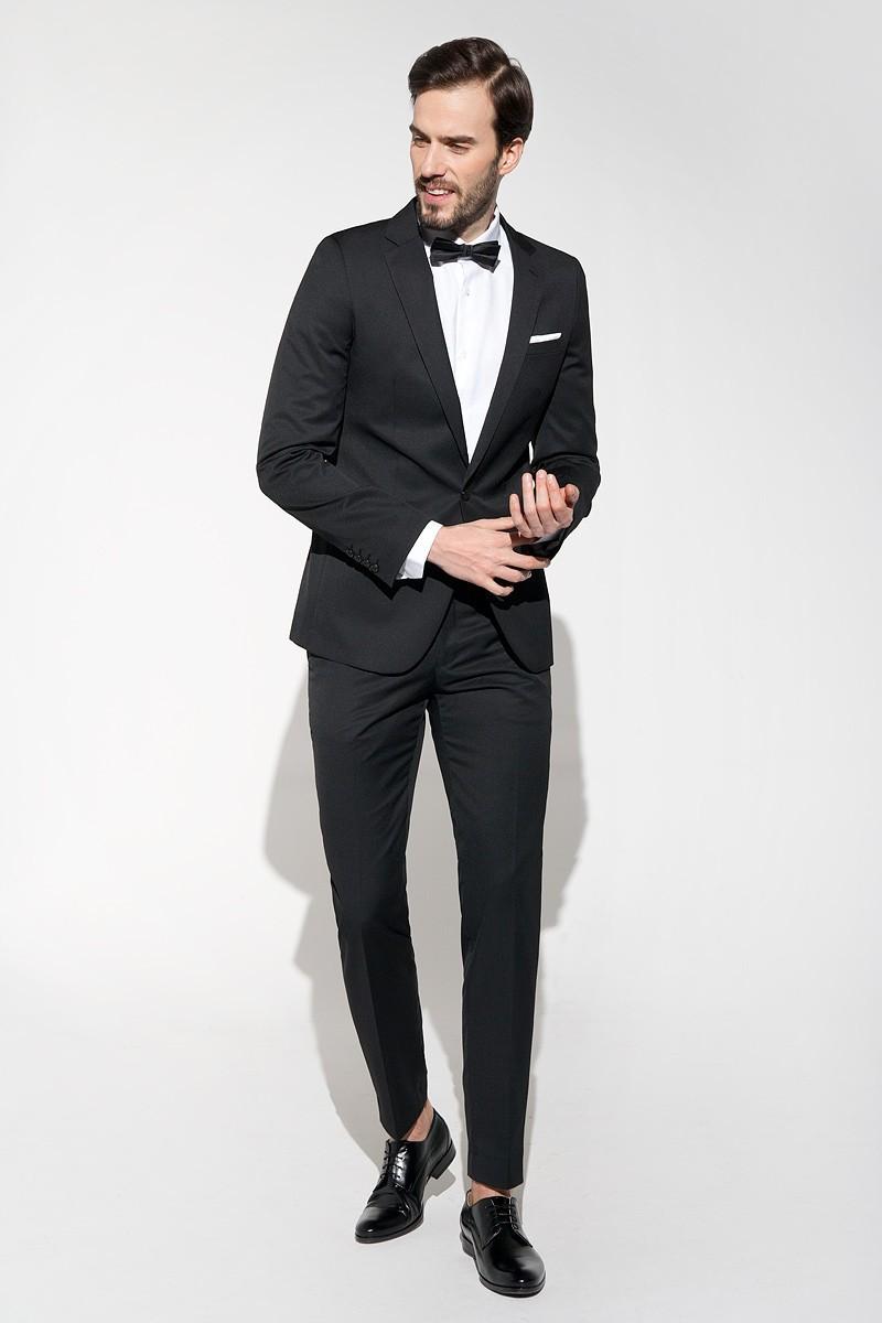 czarne spodnie męskie do garnituru