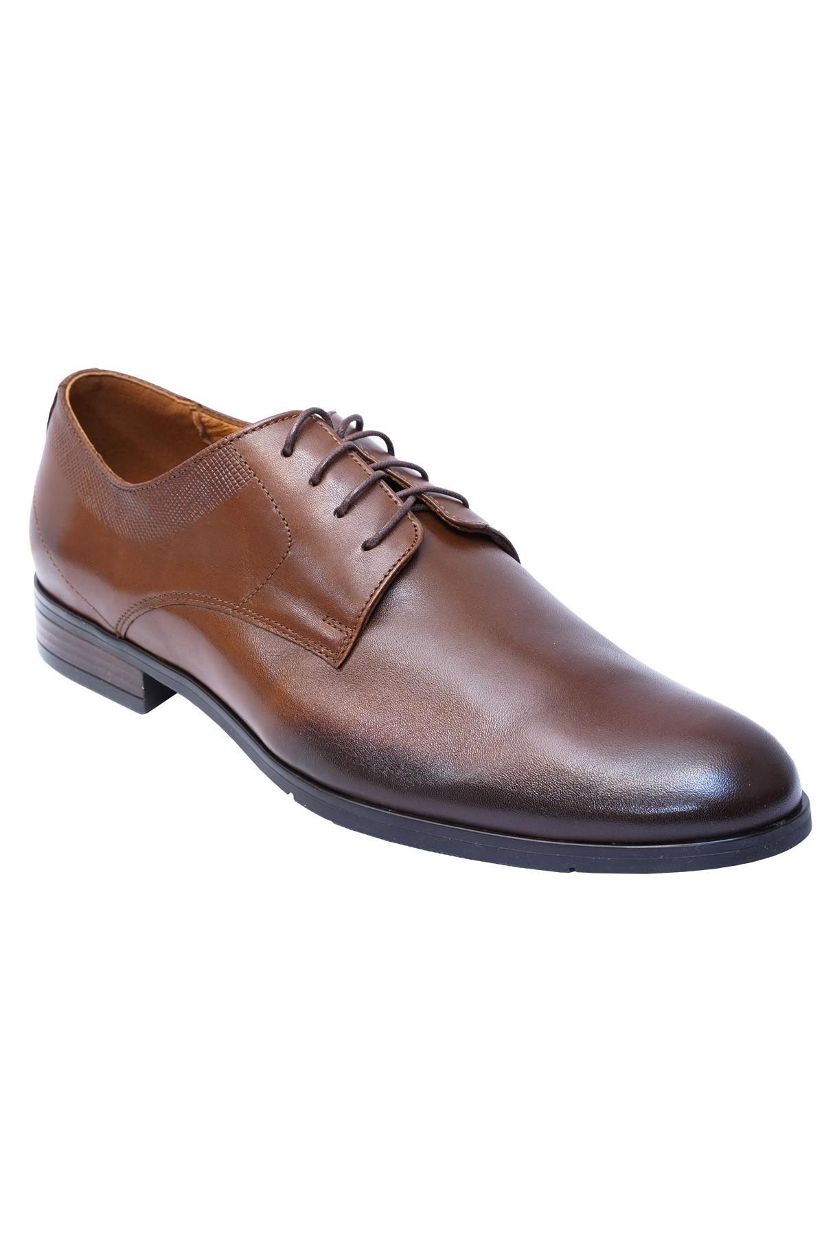 brązowe buty eleganckie ze skóry naturalnej