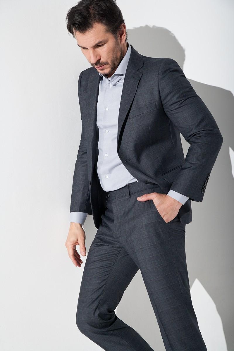 klasyczne spodnie męskie garniturowe