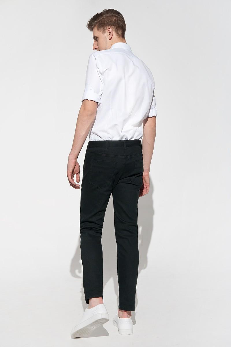 czarne spodnie męskie casual