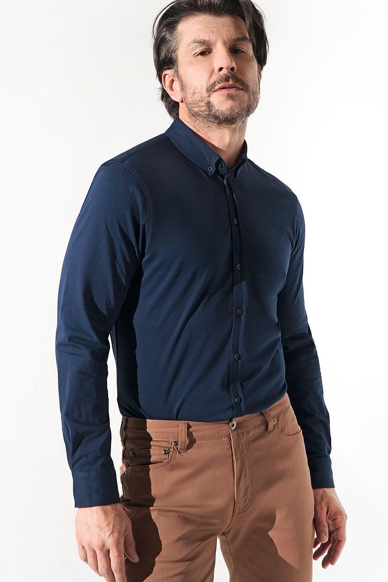 Granatowa koszula dzianinowa