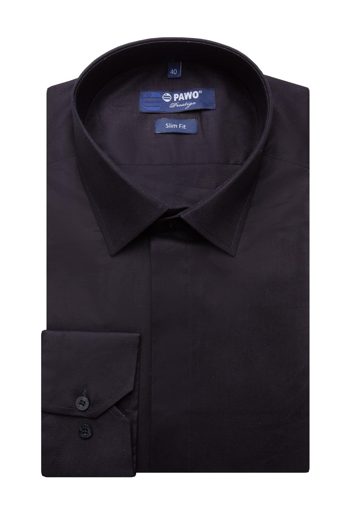 czarna koszula męska slim
