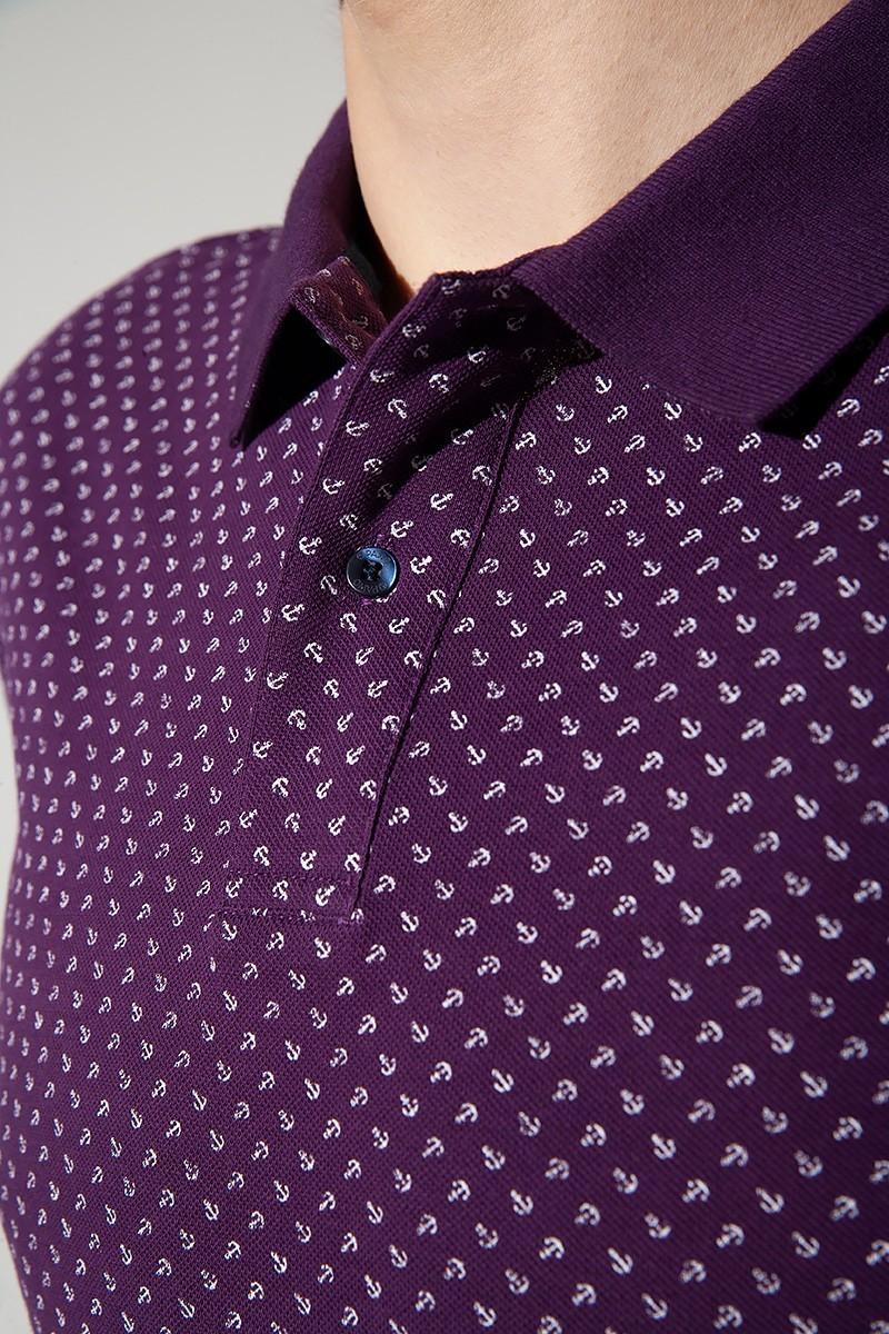 fioletowa koszulka polo męska