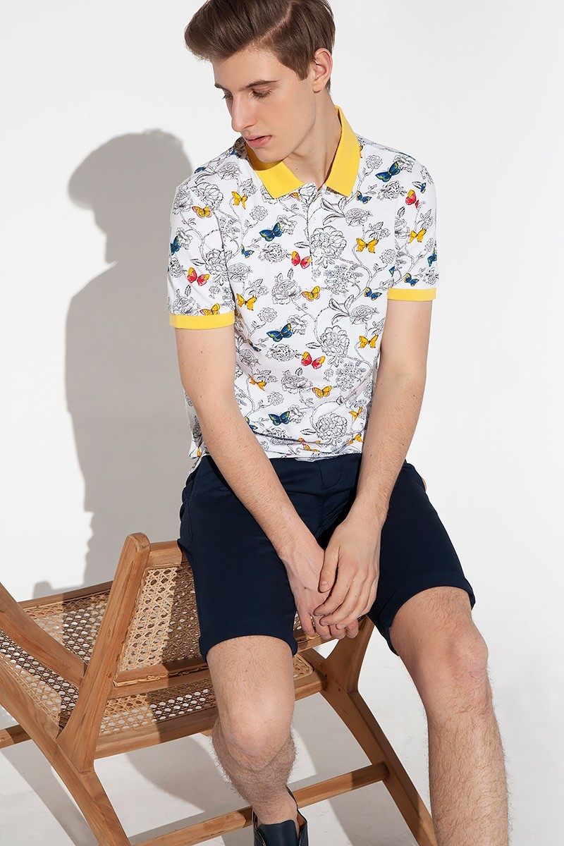 Men's polo with short sleeves