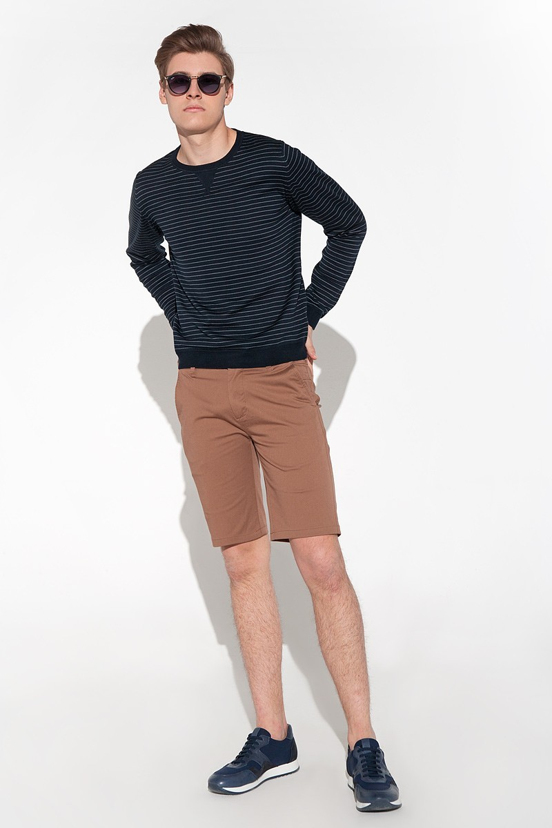 Brown men's shorts made of cotton fabric