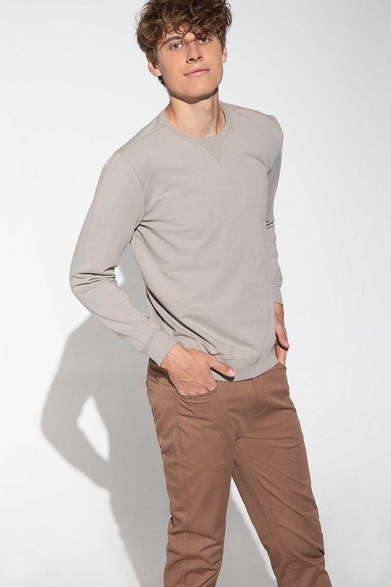 beżowa bluza męska z bawełny