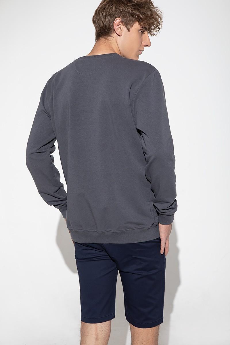Szara bluza męska z bawełny