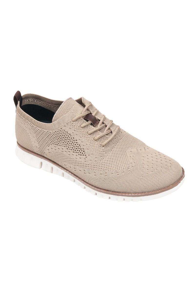 Beżowe sneakersy męskie przewiewne