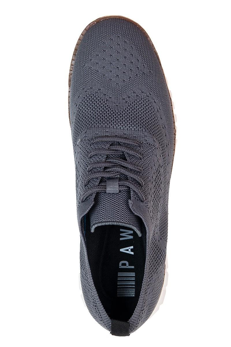 szare sneakersy męskie lekkie i przewiewne
