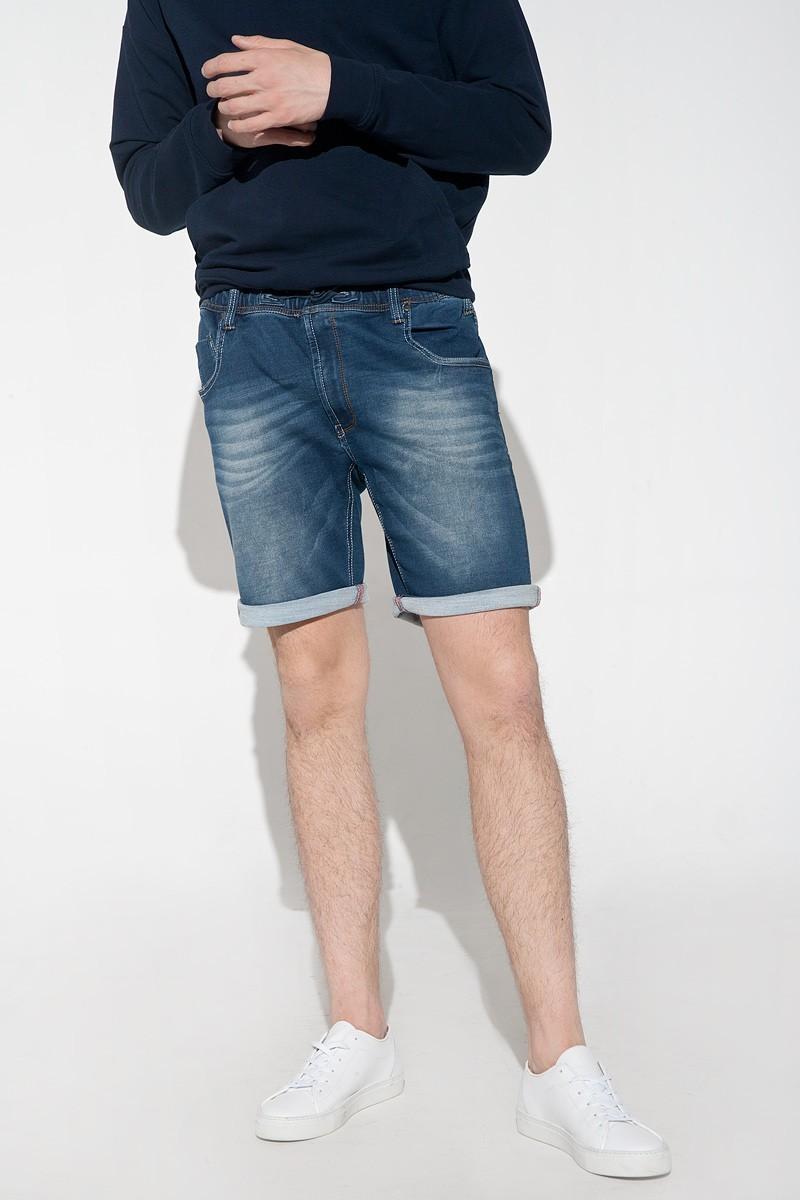 Denim men's shorts