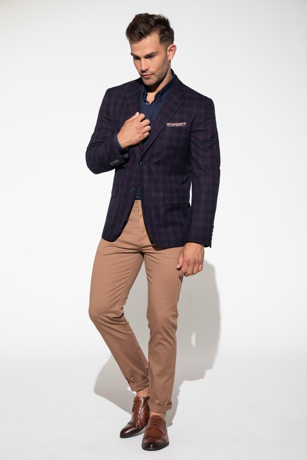 Brązowe spodnie chino męskie