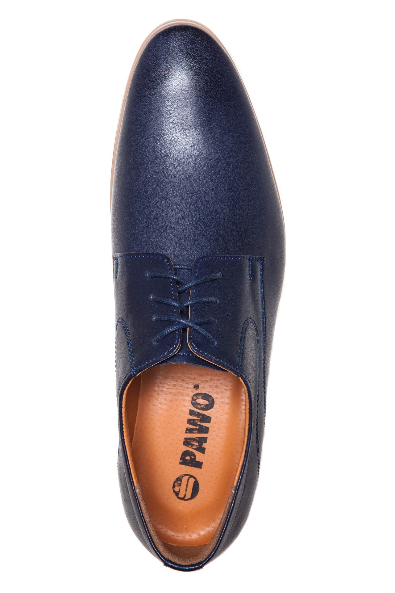 Granatowe buty męskie do garnituru