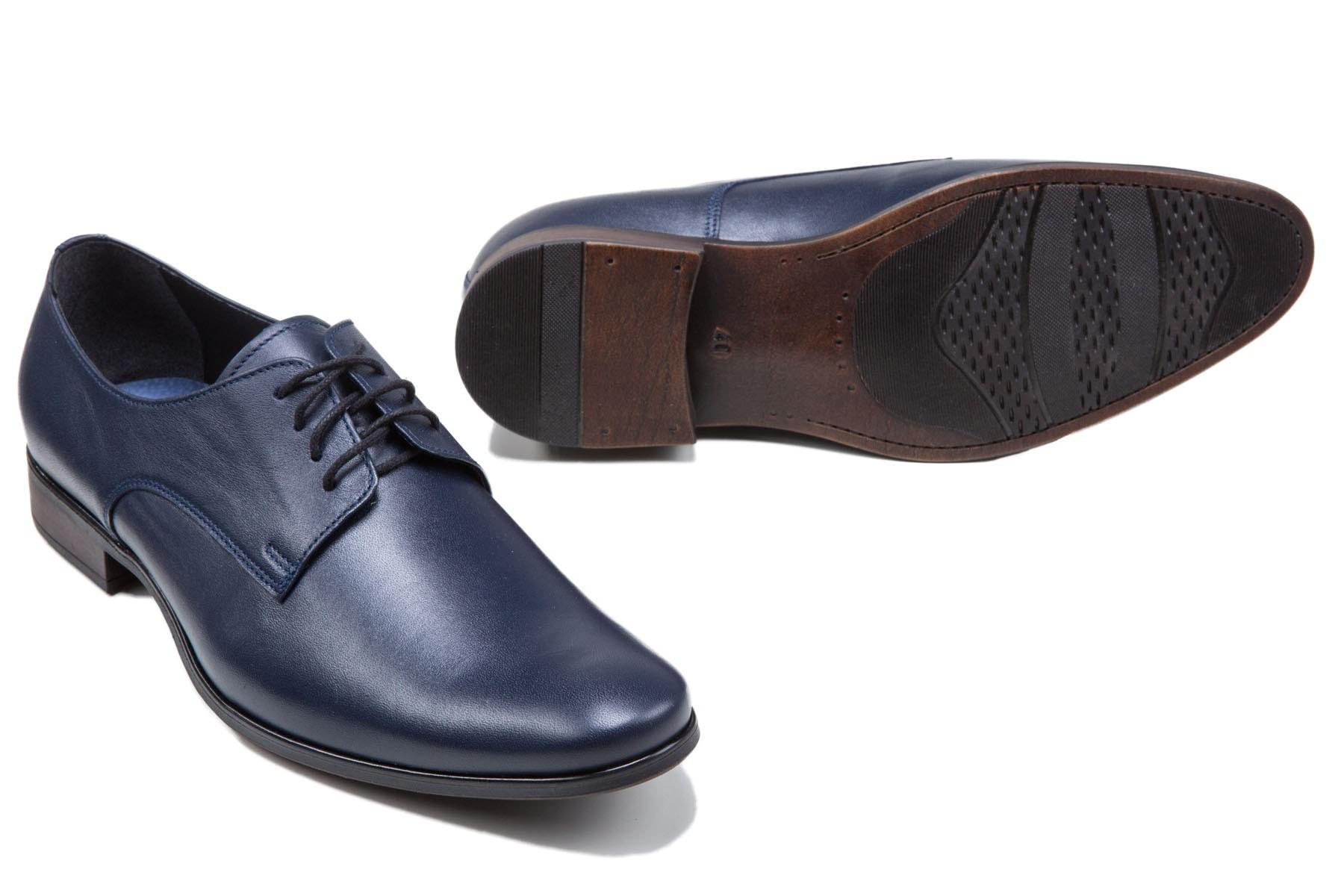 granatowe buty męskie klasyczne do garnituru