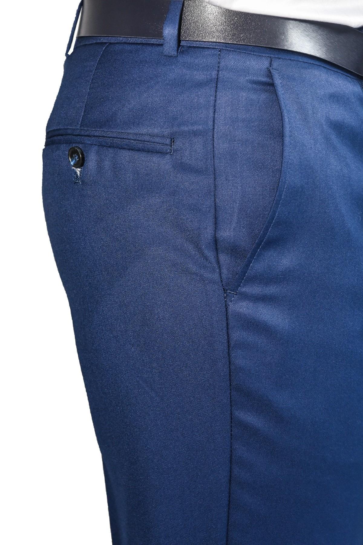 Classic blue men's suit trousers