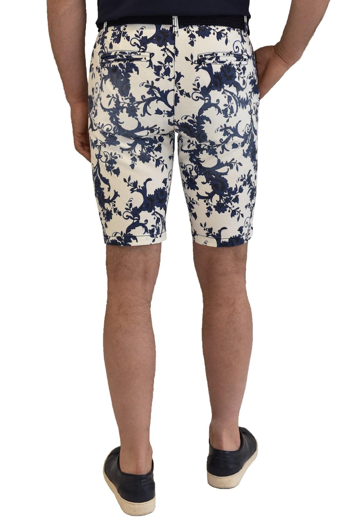 Navy-white men's shorts