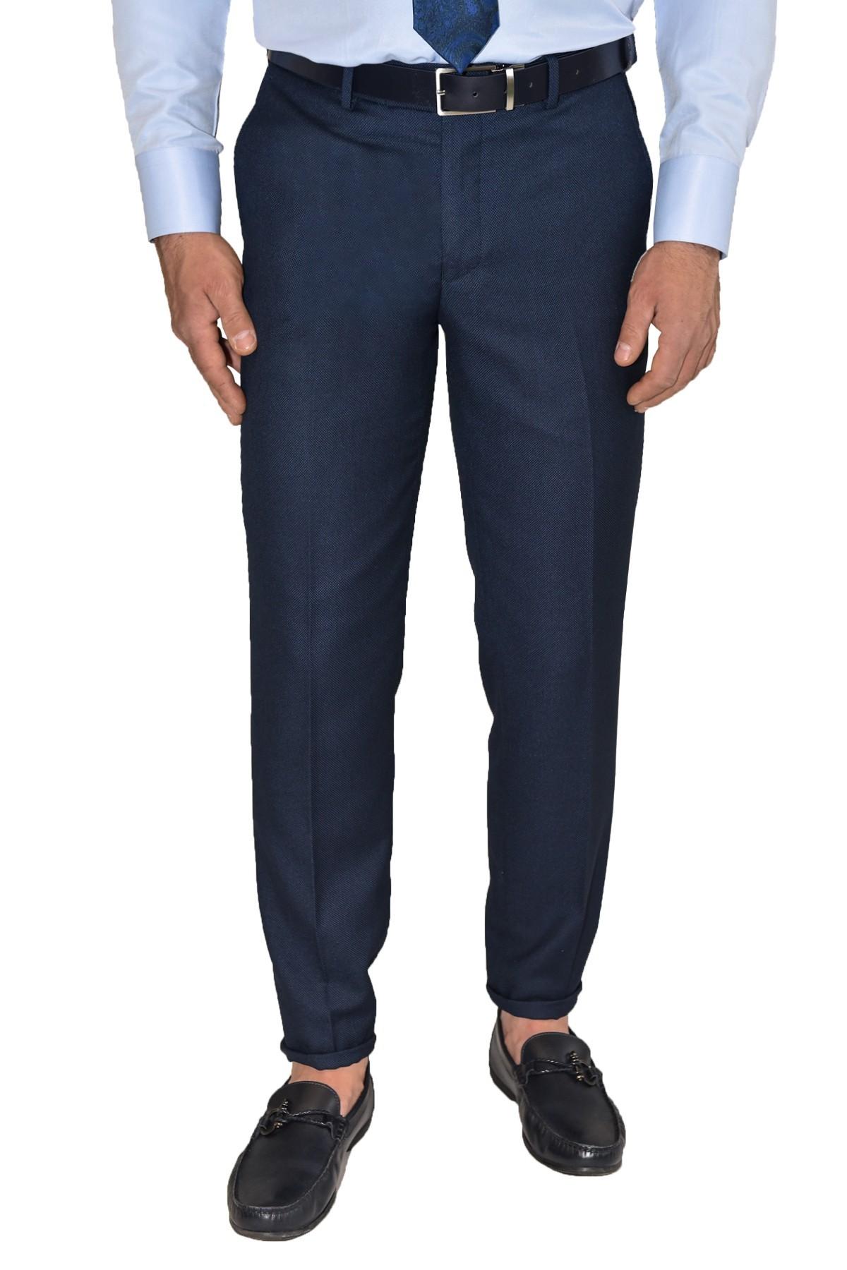 męskie granatowe spodnie