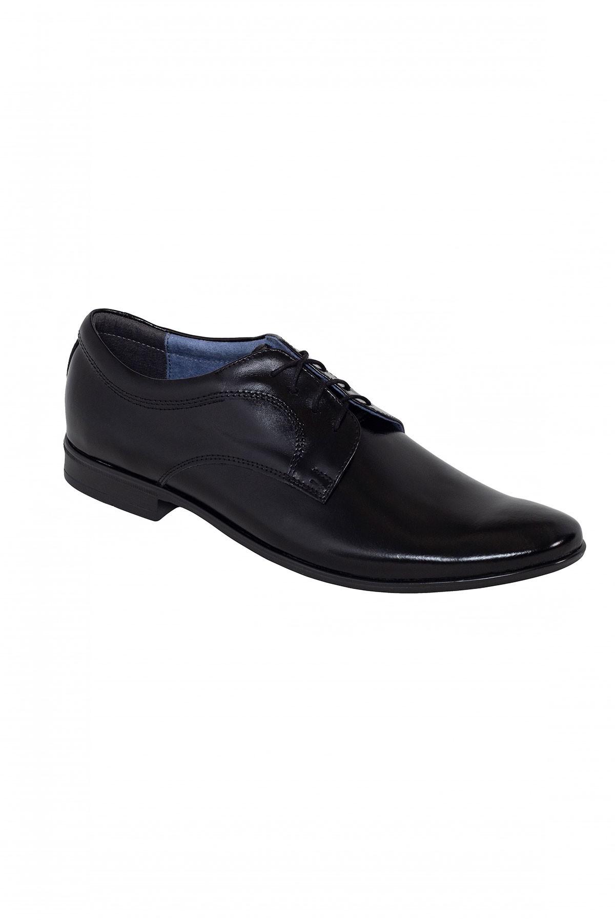 czarne buty męskie skórzane do garnituru