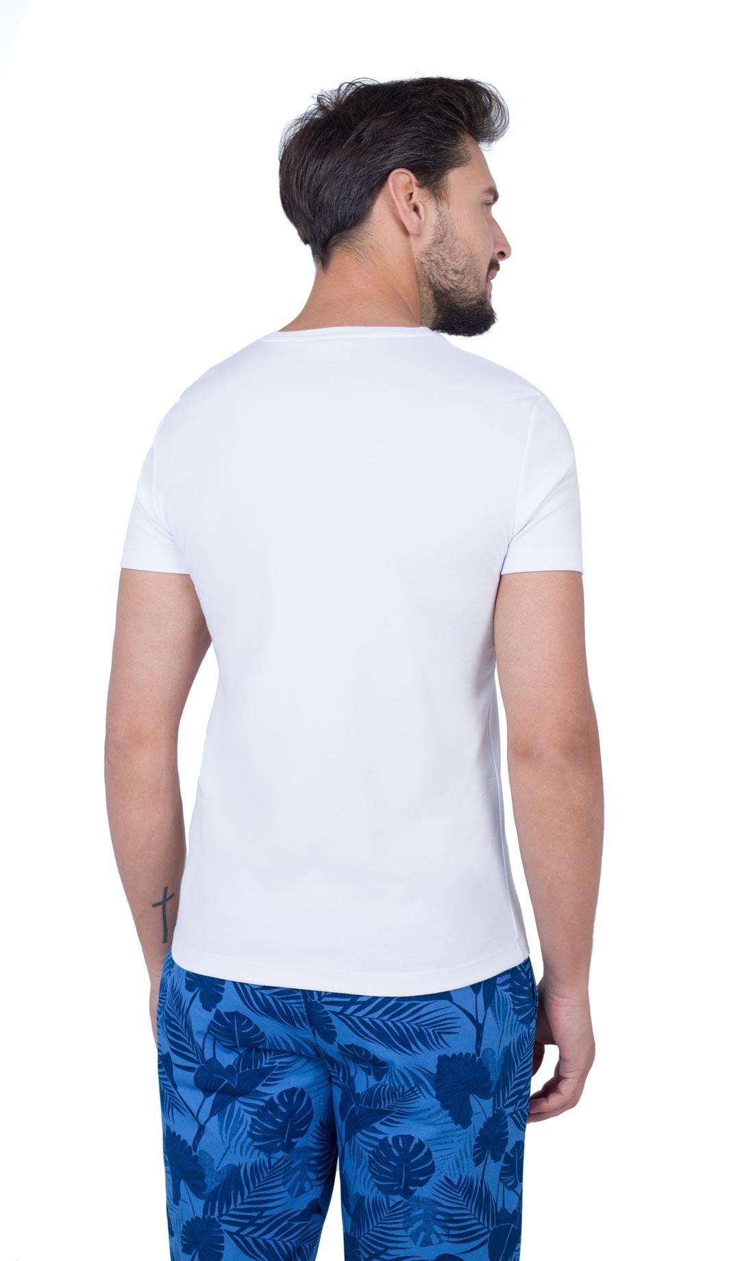 Biały tshirt męski