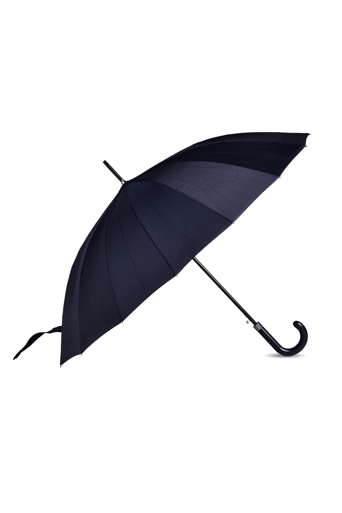 Czarny parasol męski.