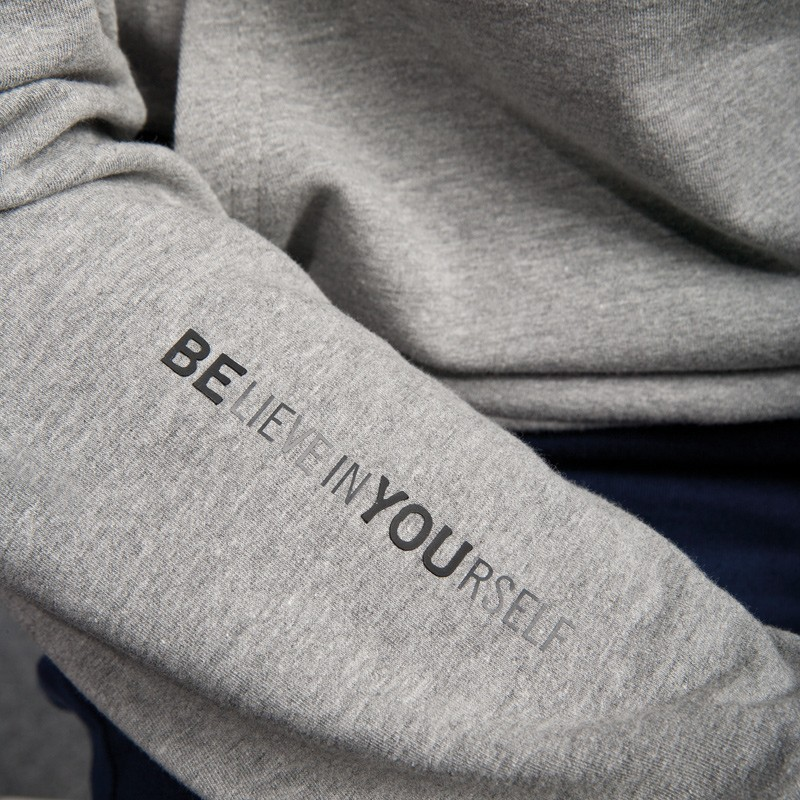 Grey men's hoodie