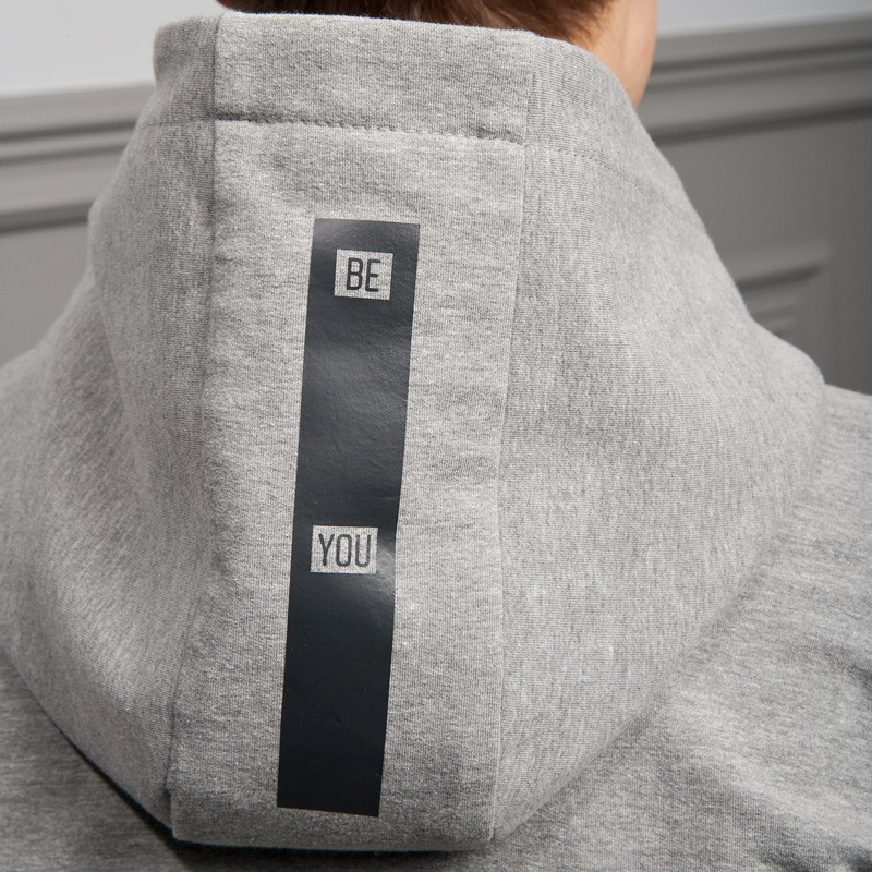 Men's grey men's hoodie