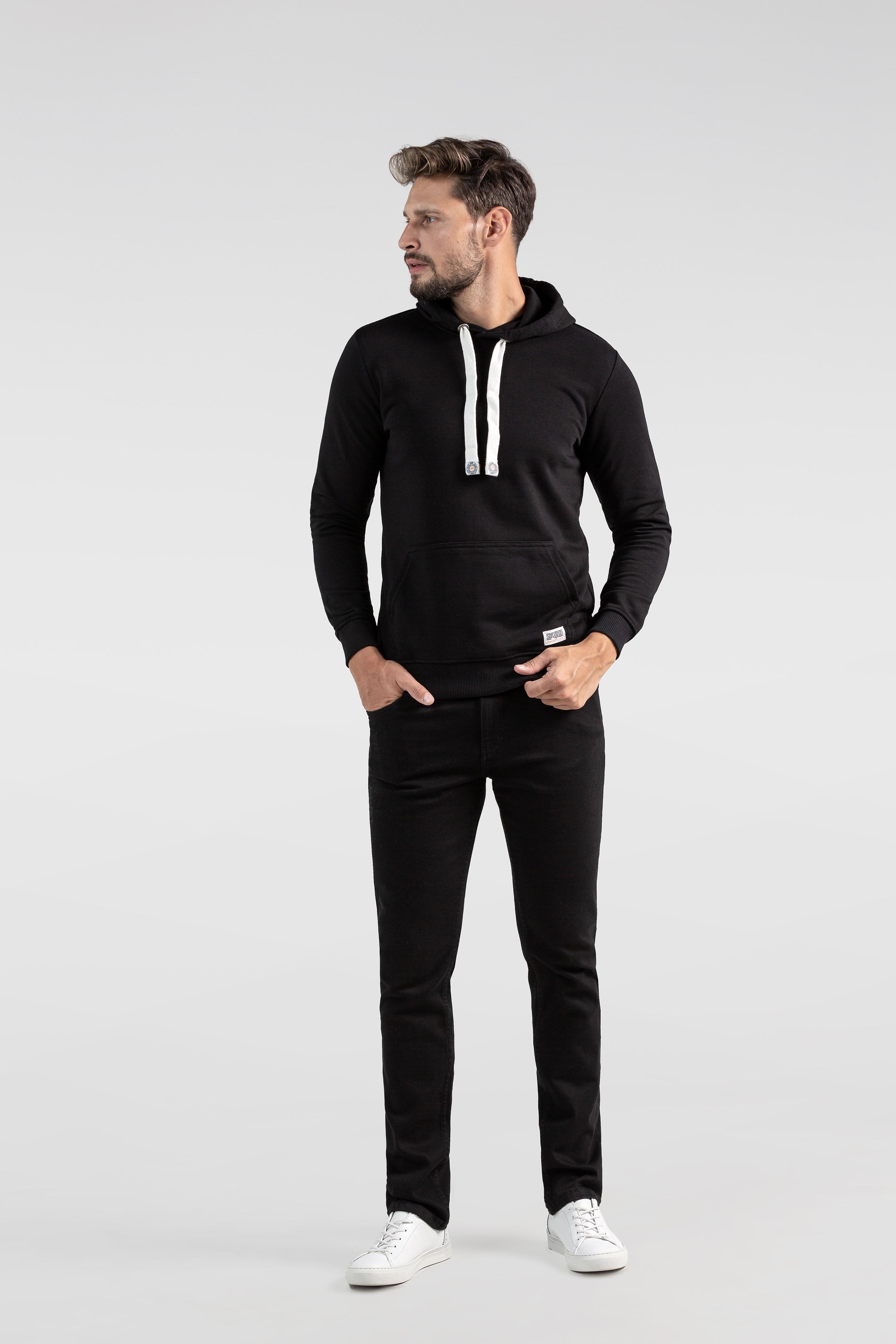 Men's black hoodie